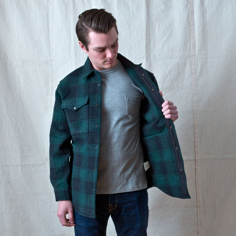 Beartooth Jac Shirt Black Green Plaid