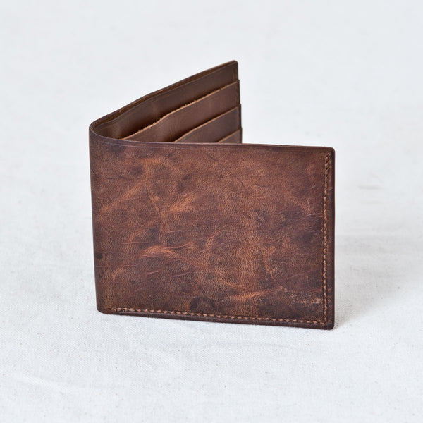 Utility Billfold Brown Tumbled Horsehide CXL