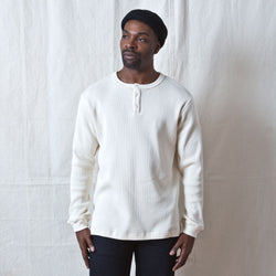 Long Sleeve Thermal Henley Natural