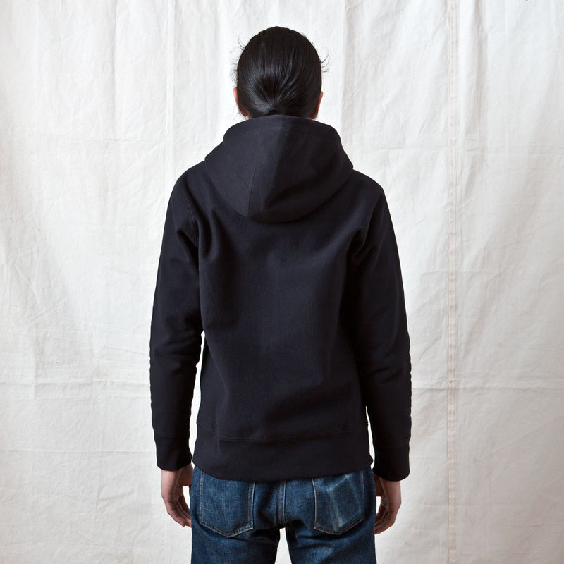 Heavyweight Zip Hoody Black