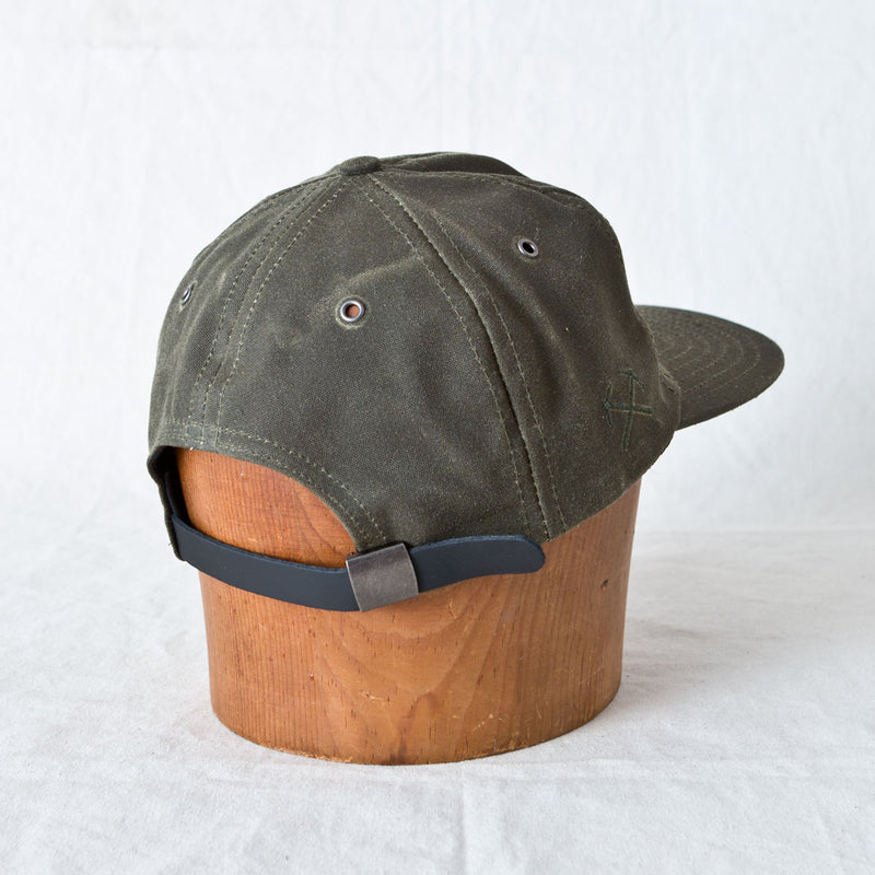 Waxed Canvas Baseball Cap Olive