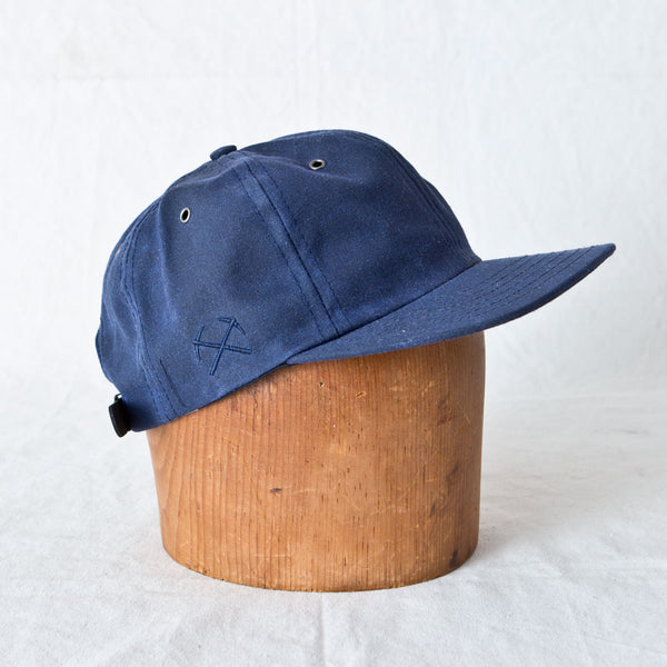 Waxed Canvas Baseball Cap Navy
