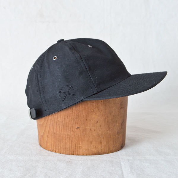 Waxed Canvas Baseball Cap Black