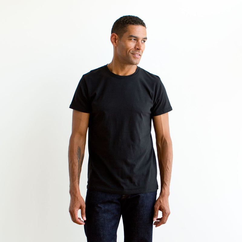 Crew Neck Three Pack Black