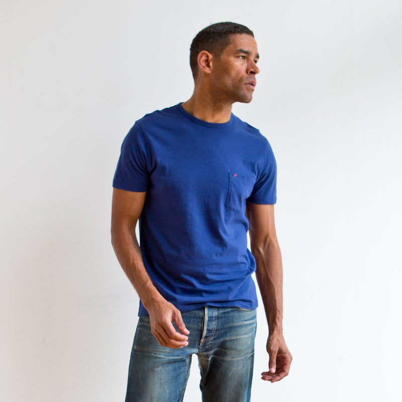 Offshore Pocket Tee Navy