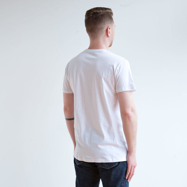 3 Pack White Crew Neck