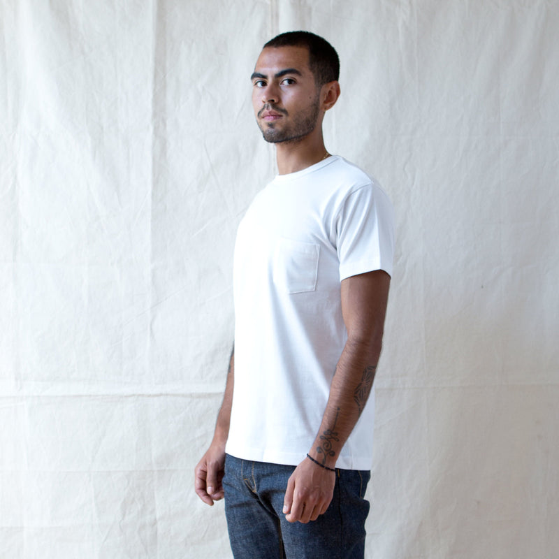Heavyweight Pocket Tee 2 Pack White