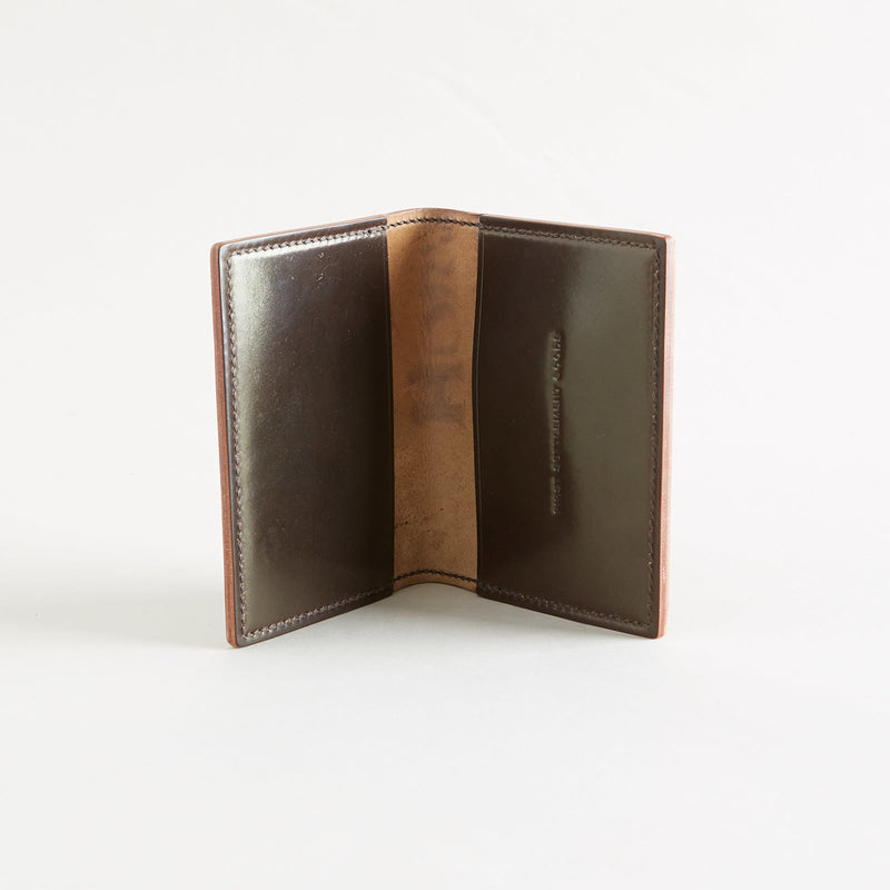 Two Pocket Wallet Dark Cognac Shell Cordovan