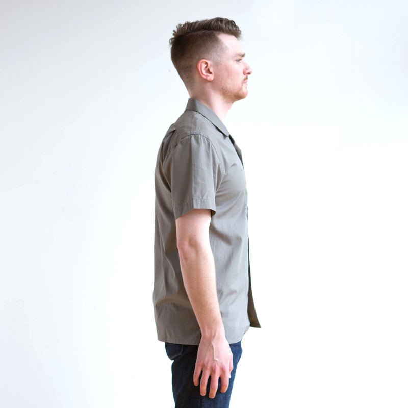 Feather Cloth Camp Shirt Olive
