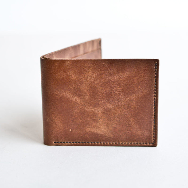 Utility Billfold Natural Tumbled Horsehide CXL
