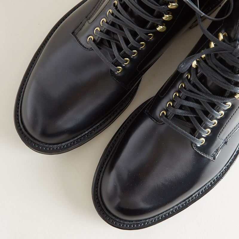 Alden + Context Roy Boot Black Shell Cordovan