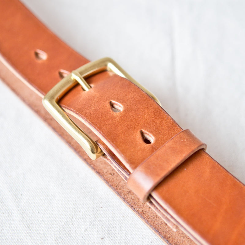 Standard Belt Brown Jacked Harness Brass
