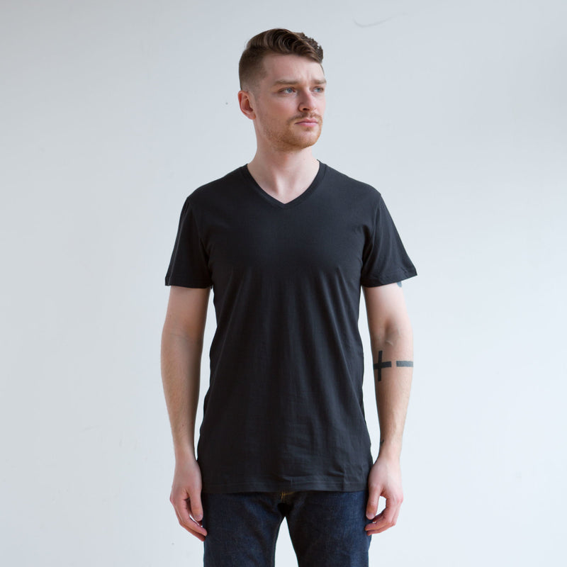 3 Pack V Neck Black