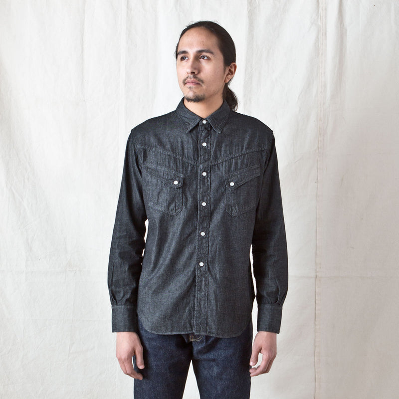 Ranchman Shirt Black Denim