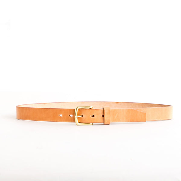 Chino Belt Natural Jacked Harness Brass