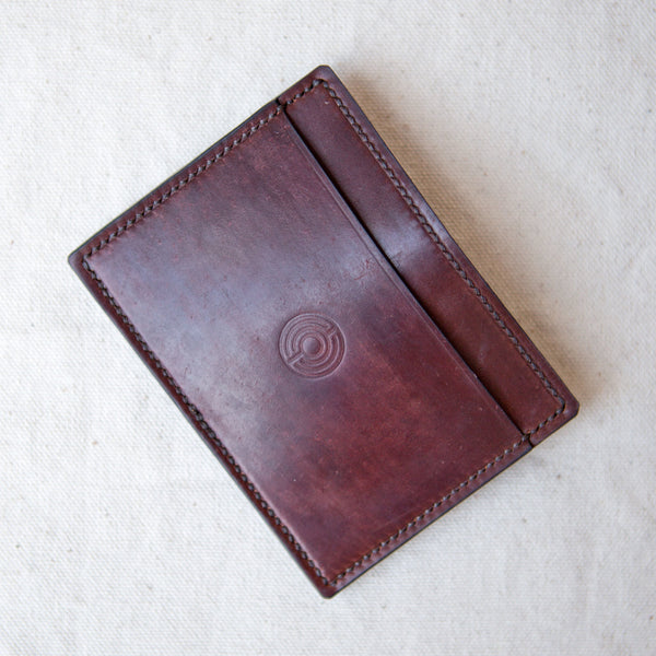 Three Pocket Wallet Marbled Color 8 Cordovan