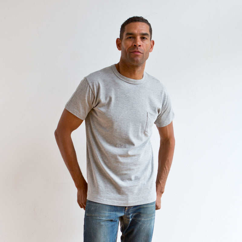 Heavyweight Pocket Tee 2 Pack Grey