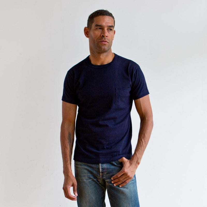 Heavyweight Pocket Tee 2 Pack Indigo