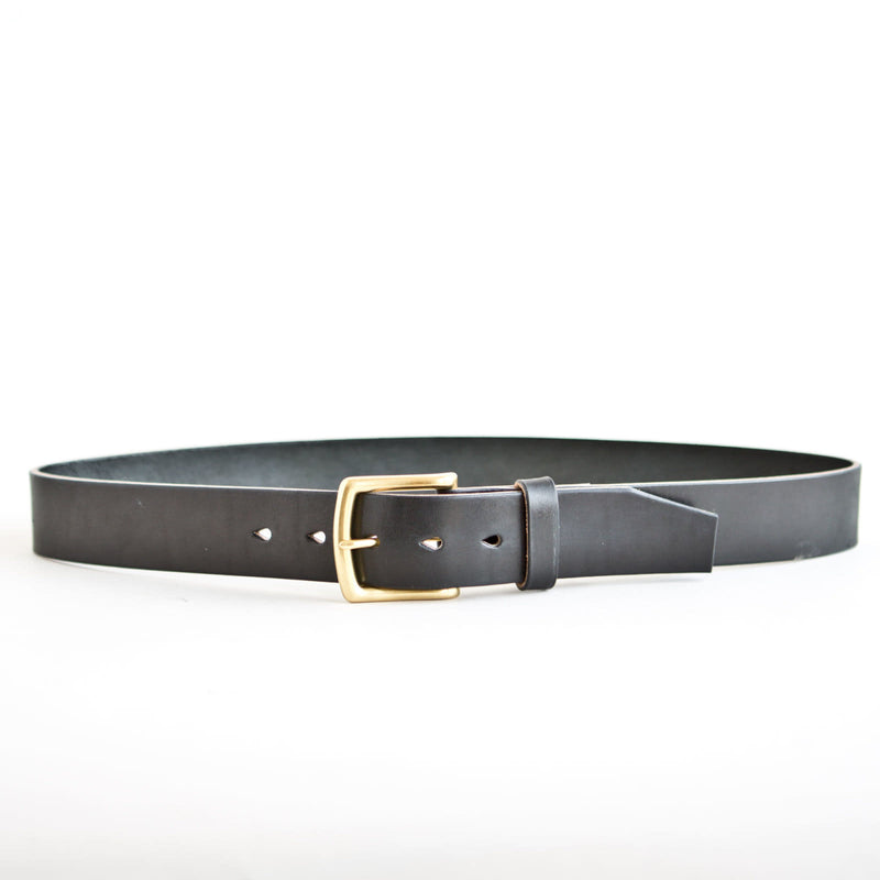 Standard Belt Black Jacked Harness Brass