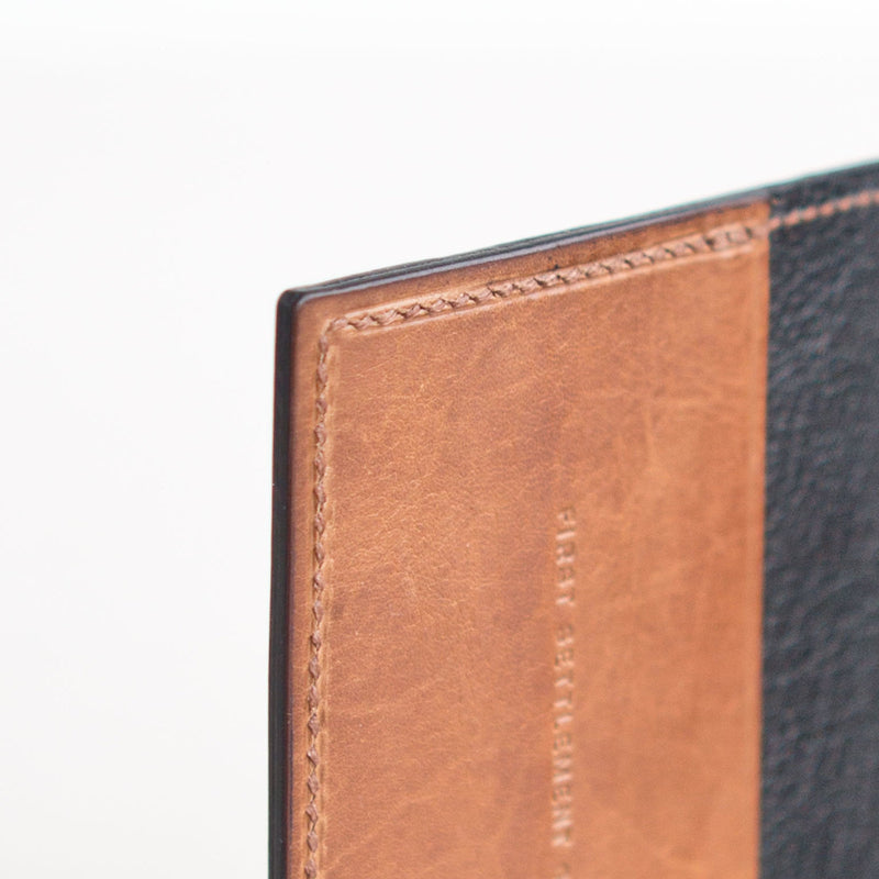 Two Pocket Wallet Black and Tan