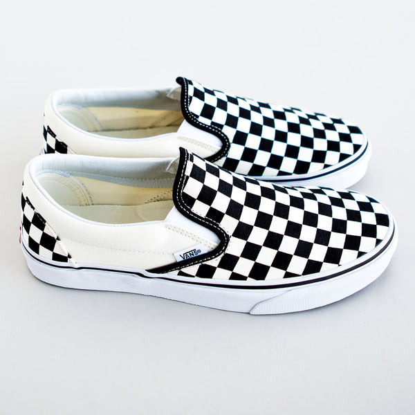 Classic Slip On Black/White Checkerboard