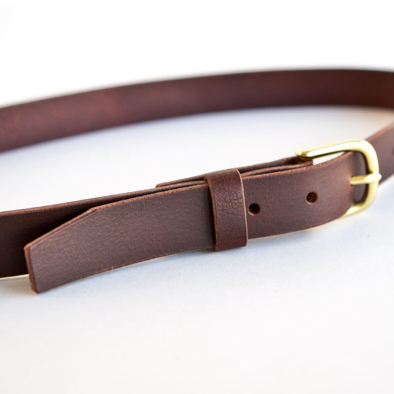 Slim Belt Brown Bison