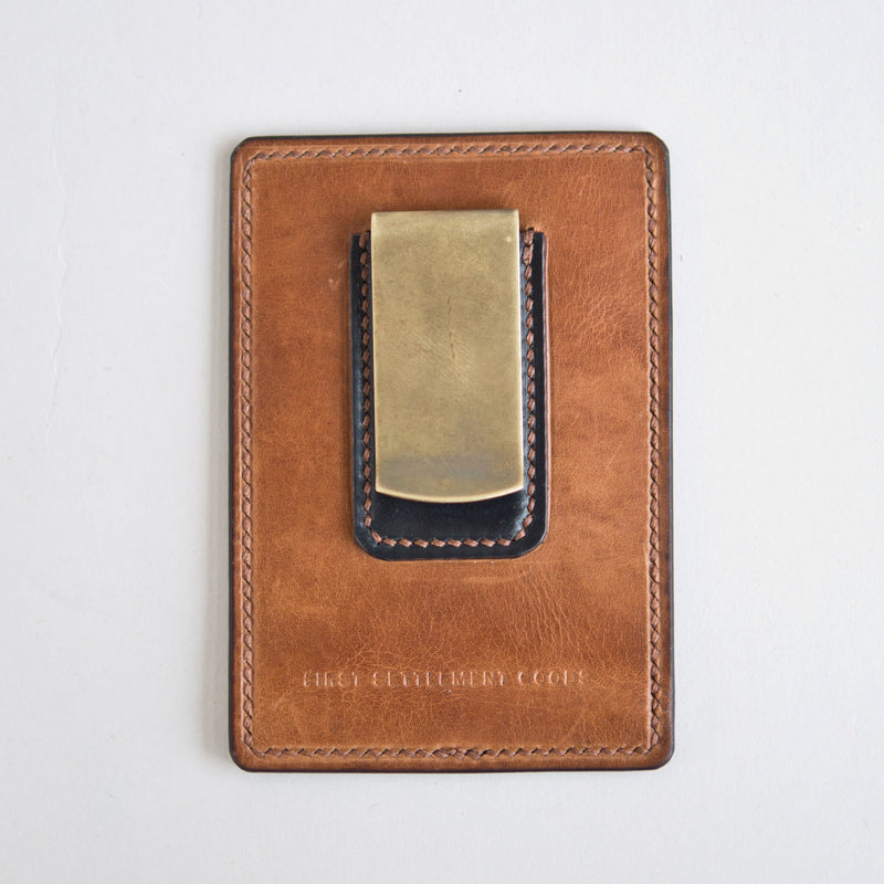Money Clip Black and Tan
