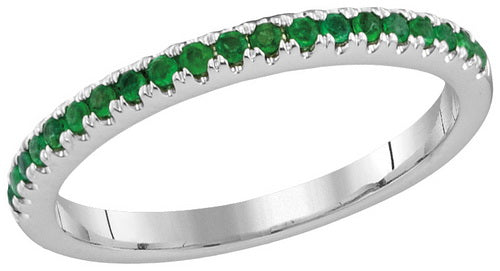 1/5CTW-DIA EMERALD BAND