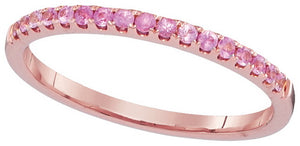 1/5CTW PINK SAPPHIRE BAND