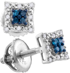 1/10CTW-Blue Diamond EARRING