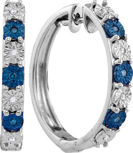 1/10CTW-Blue Diamond Earrings