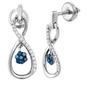 1/4CTW-DIA FASHION BLUE EARRING