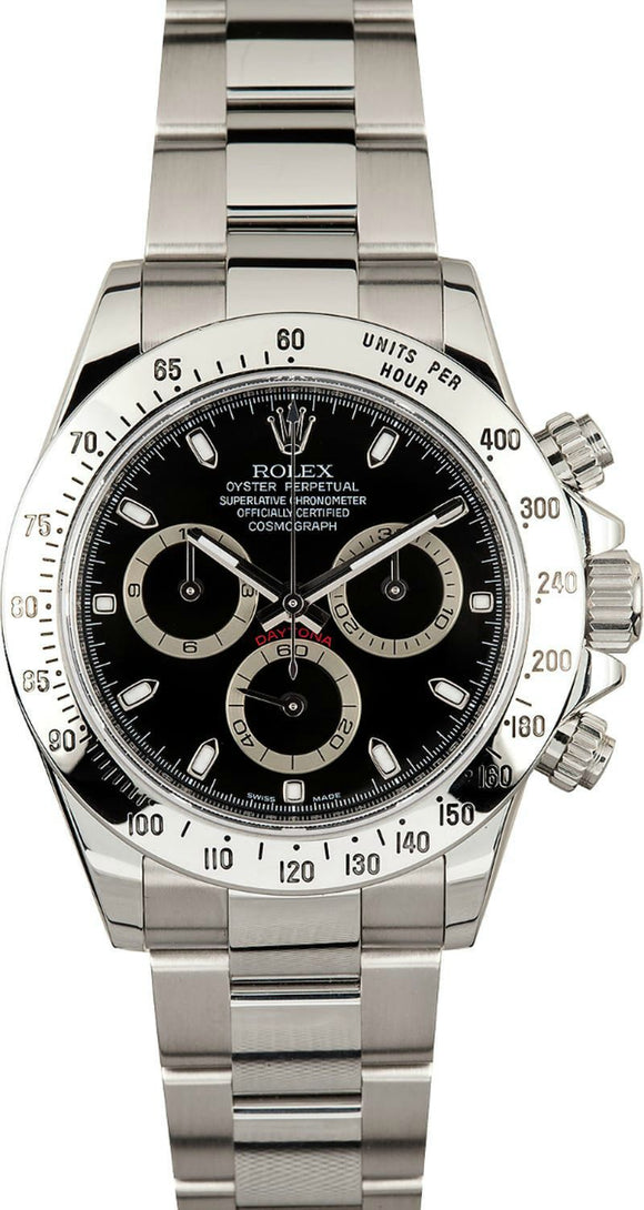 GENTS ROLEX SPORT COSMOGRAPH DAYTONA WATCH 40MM MODEL 116520 - BLACK DIAL, OYSTERLOCK BRACELET