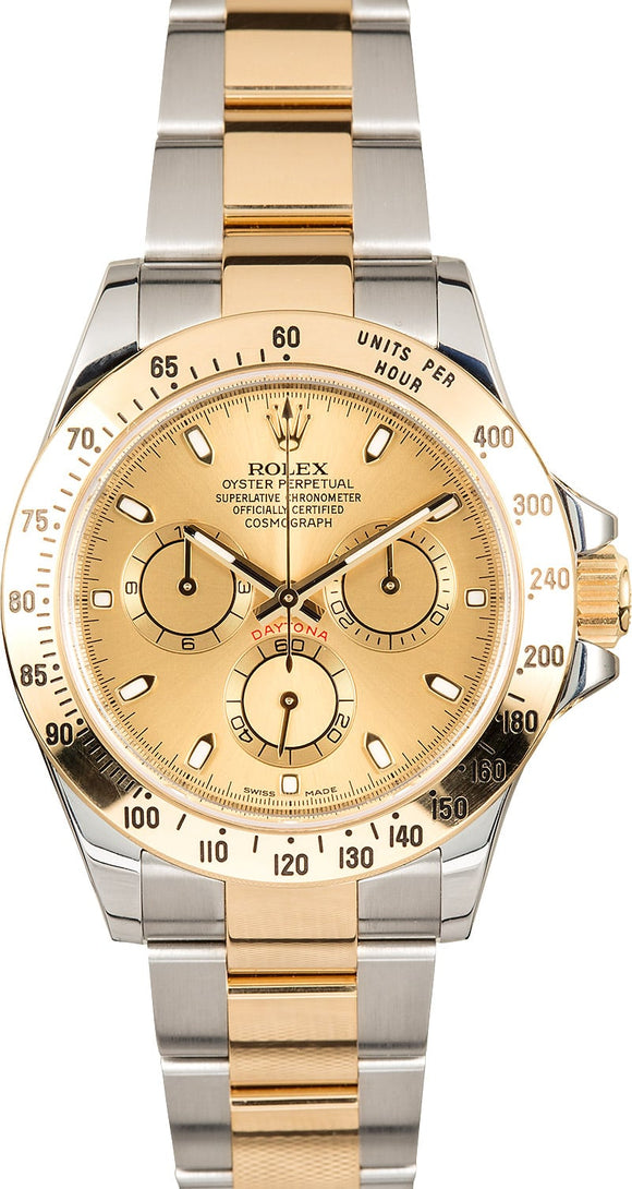 GENTS ROLEX SPORT COSMOGRAPH DAYTONA WATCH 40MM MODEL 116523 - CHAMP. DIAL, OYSTERLOCK BRACELET