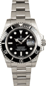 GENTS ROLEX SUBMARINER SPORT WATCH 40MM MODEL 116610 - BLACK CERAMIC, OYSTERLOCK BRACELET