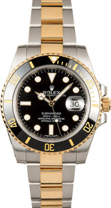 GENTS ROLEX SUBMARINER SPORT WATCH 40MM MODEL 116613- BLACK CERAMIC, OYSTERLOCK BRACELET