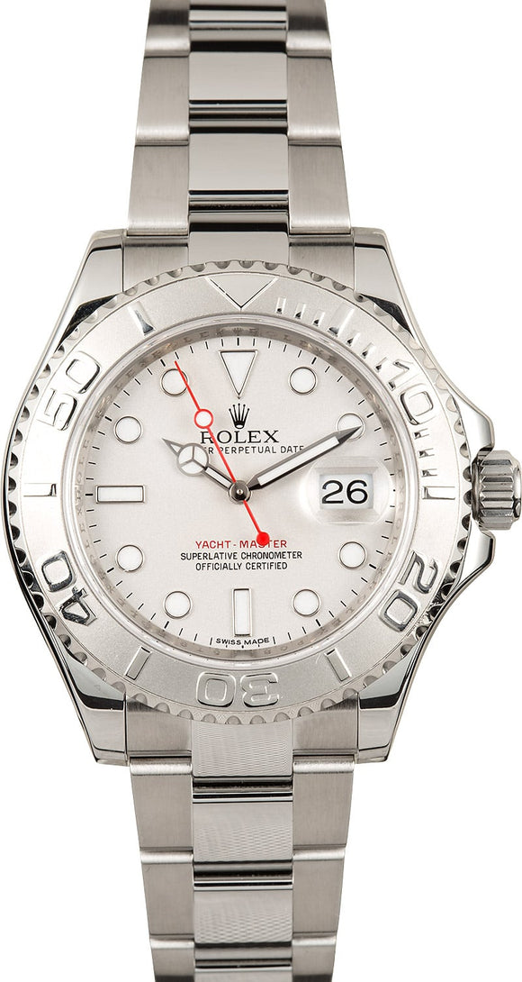 GENTS ROLEX SPORT YACHT-MASTER WATCH 40MM MODEL # 116622 - GRAY DIAL, OYSTERLOCK BRACELET