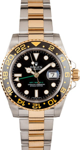 GENTS ROLEX GMT-MASTER II WATCH 40MM MODEL 116713- CERAMIC BLACK BEZEL, OYSTERLOCK BRACELET