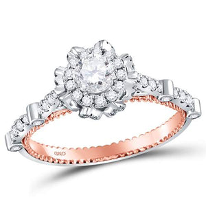 3/4CTW-DIA 1/3CT-CRD BRIDAL RING