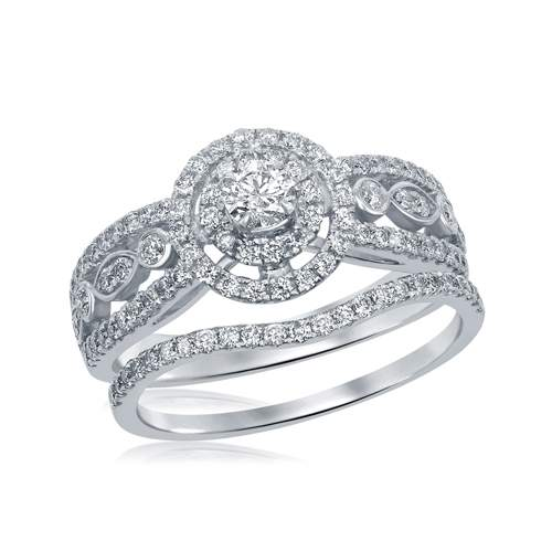 7/8CTW-DIA 1/5CT-CRD BRIDAL SET