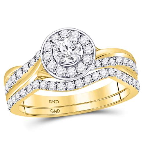 1 CTW-DIA 1/3CT-CRD BRIDAL SET