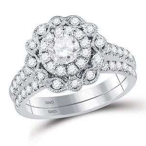 1 1/4CT-DIA 1/2CT-CENTER DIAMOND BRIDAL RING