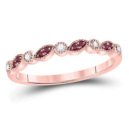 1/20CTW-DIAMOND 1/20CT-RUBY  BAND