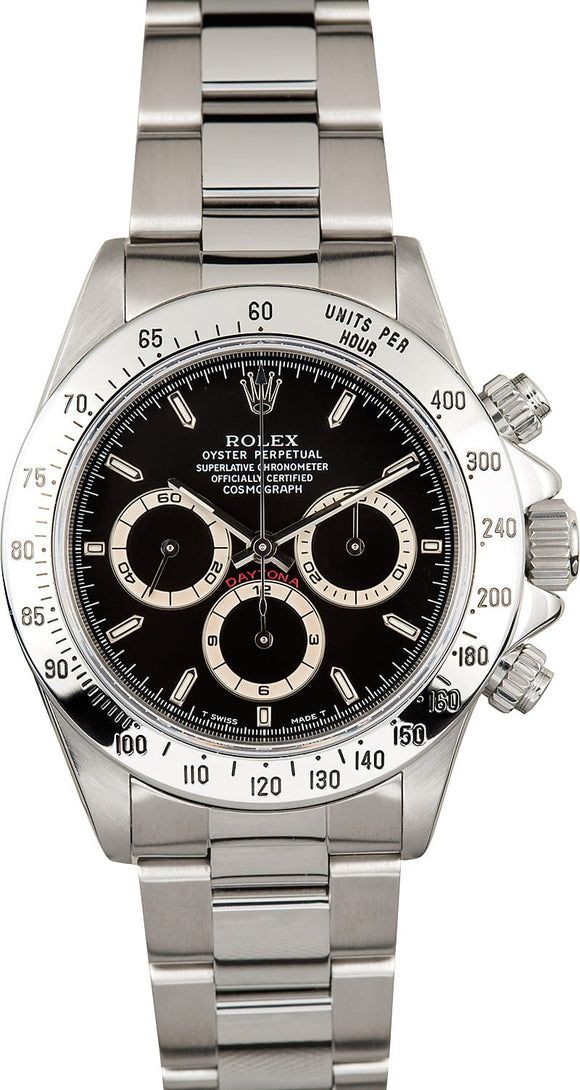 GENTS ROLEX SPORT COSMOGRAPH DAYTONA WATCH 40MM MODEL 16520 - BLACK DIAL, OYSTER SPORT BRACELET