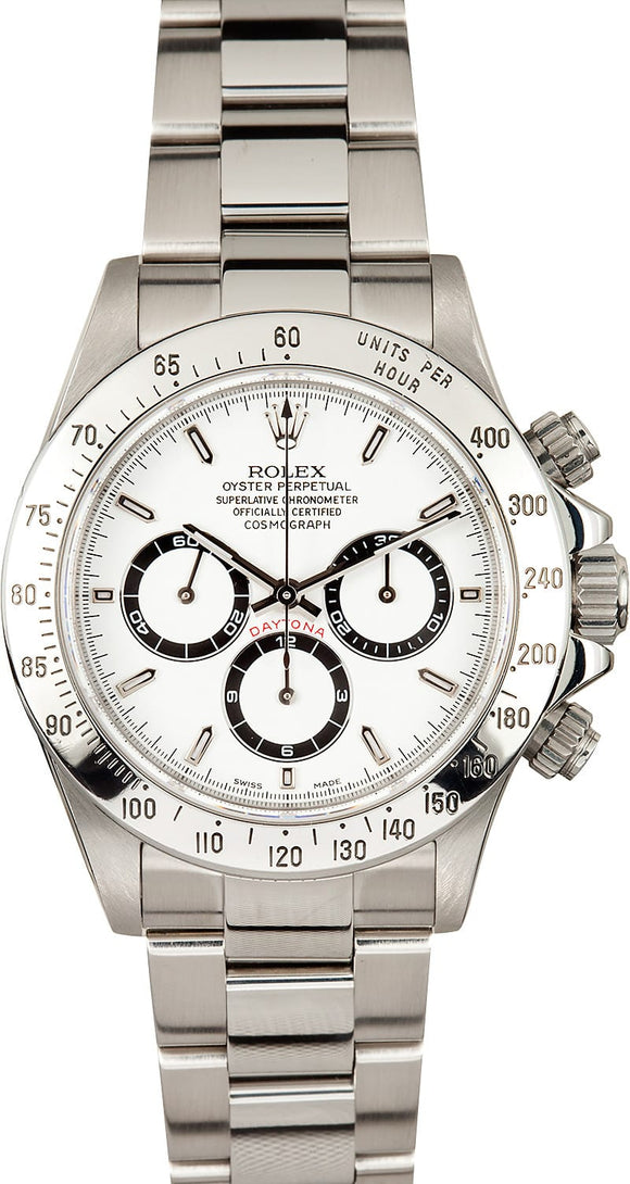 GENTS ROLEX SPORT COSMOGRAPH DAYTONA WATCH 40MM MODEL 16520 - WHITE DIAL, OYSTER SPORT BRACELET