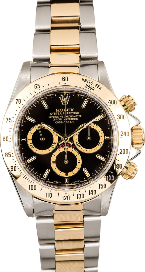 GENTS ROLEX SPORT COSMOGRAPH DAYTONA WATCH 40MM MODEL 16523 - BLACK DIAL, OYSTER SPORT BRACELET