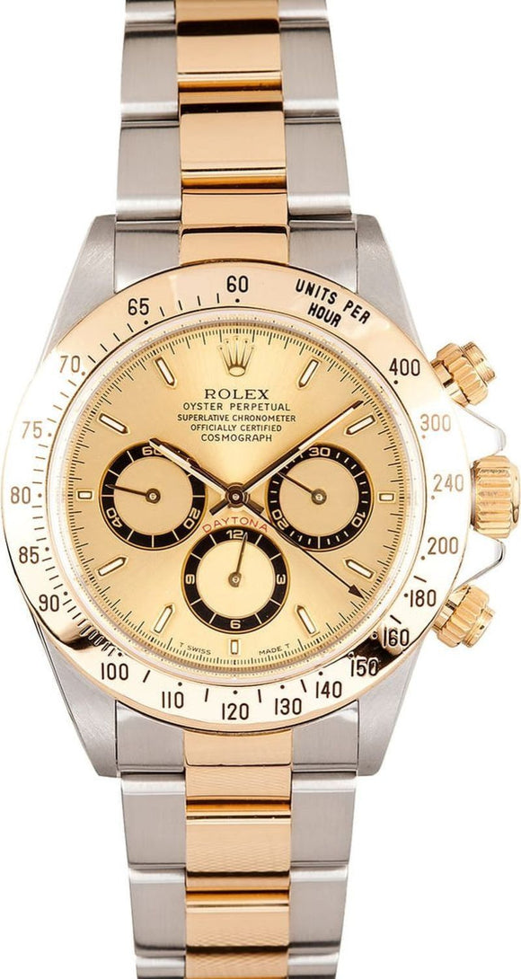 GENTS ROLEX SPORT COSMOGRAPH DAYTONA WATCH 40MM MODEL 16523 - CHAMP. DIAL, OYSTER SPORT BRACELET