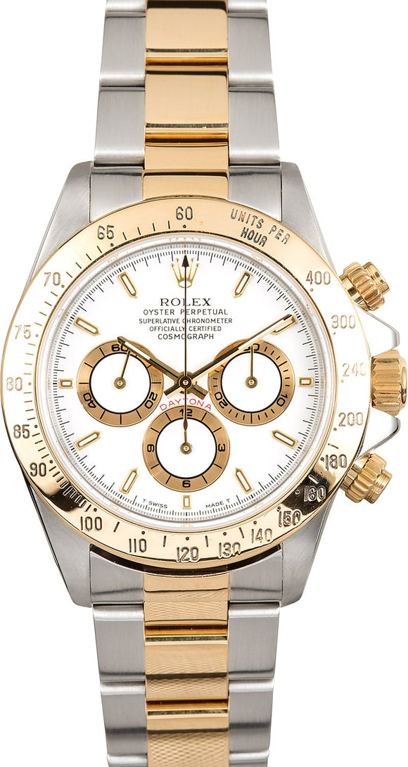 GENTS ROLEX SPORT COSMOGRAPH DAYTONA WATCH 40MM MODEL 16523 - WHITE DIAL, OYSTER SPORT BRACELET