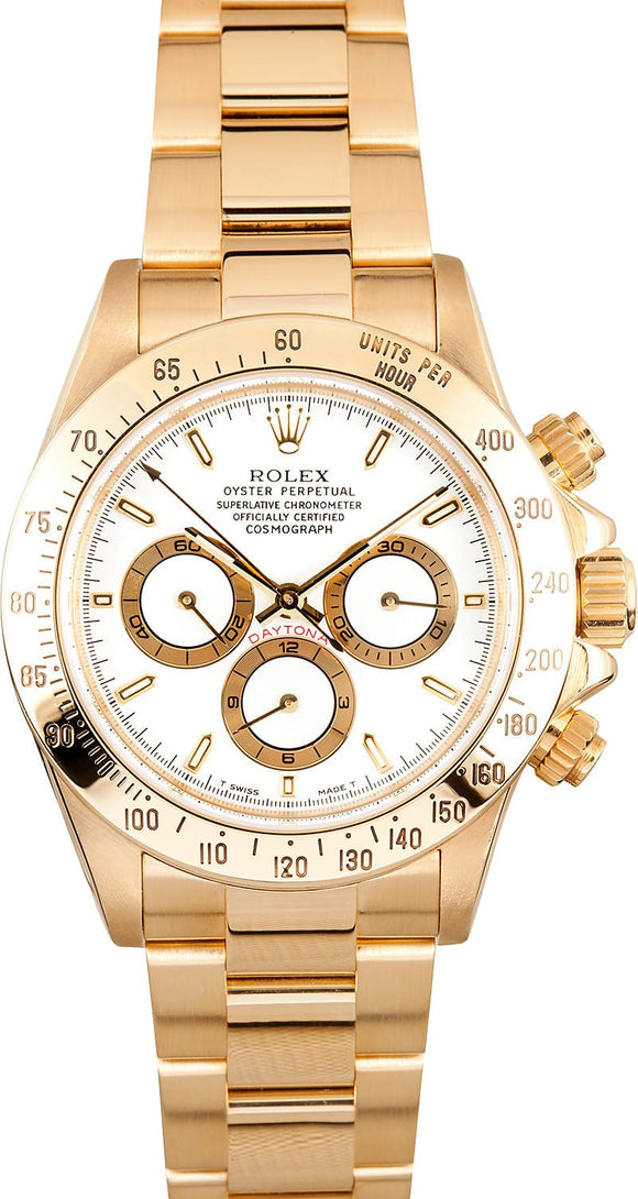 GENTS ROLEX SPORT COSMOGRAPH DAYTONA WATCH 40MM MODEL 16528 - WHITE DIAL, OYSTER SPORT BRACELET