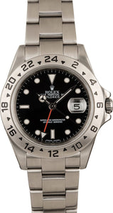 GENTS ROLEX SPORT EXPLORER II WATCH 40MM MODEL # 16570 - BLACK DIAL, OYSTER SPORT BRACELET